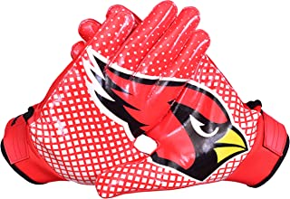 Lycos Gears NFL Arizona Cardinals Fans Football Receiver Gloves (Youth/Kids/Adult Sizes)