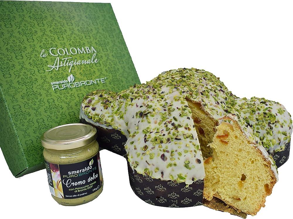 Colomba artigianale, con pistacchio verde di bronte d.o.p., limited edition