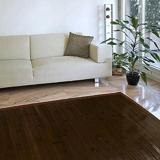 comprar comparacion Estores Basic Natural Alfombra, Bambú, Marrón Oscuro, 140 x 200 cm