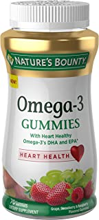 Natures Bounty Omega-3, 70 Gummies, Fruit Flavored Gummy Dietary Supplements for Adults
