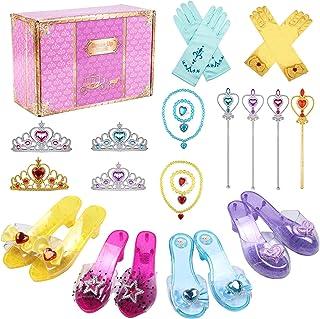 Tacobear Princesse Deguisement Accessoires Chaussure Princesse Fille avec Collier Diadème Gants Baguette Bracelet Anneau P...