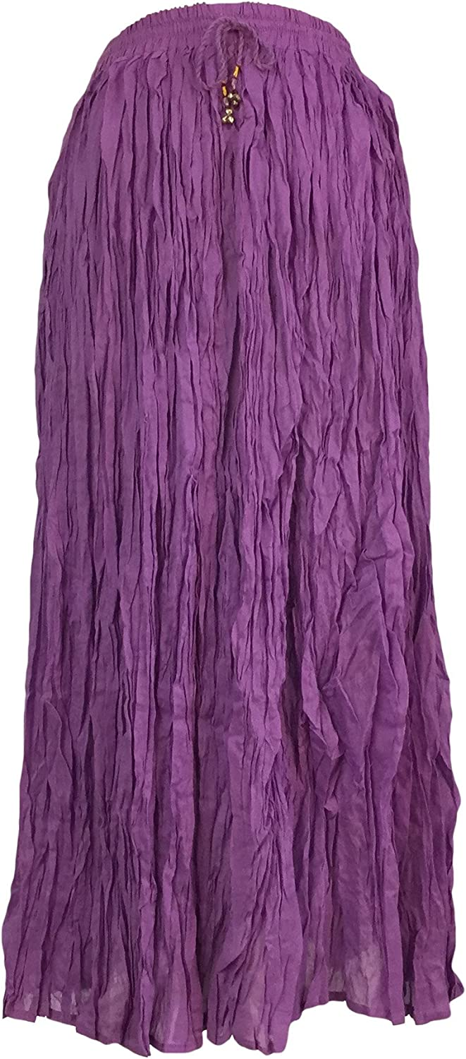 IK Collections Long Solid color Broom Skirt