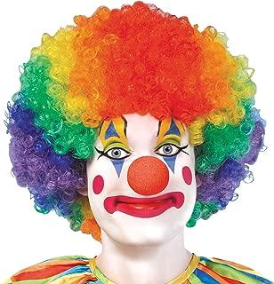AMSCAN Jumbo Clown Wig Halloween Costume Accessories, Rainbow, One Size