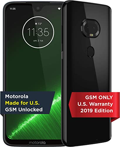 discount Moto G7 Plus | Unlocked | Made for US discount by wholesale Motorola | 4/64GB | 16MP Camera | 2019 | Black outlet sale