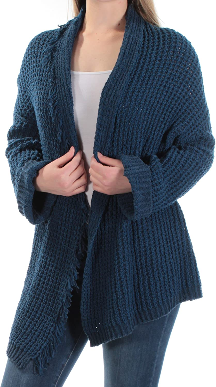 Free People Womens I'll Be Around Silk Fringe Trim Cardigan Sweater