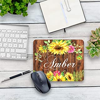 Sunflower mouse pad personalized home or office decor desk accessory gift for co-worker appreciation