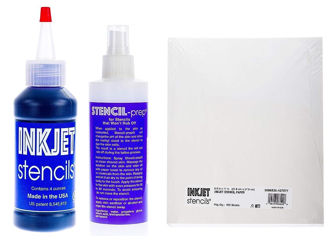 Inkjet Stencils Tattoo Stencil Refill Kit - Paper, Stenciling Prep Spray & Ink