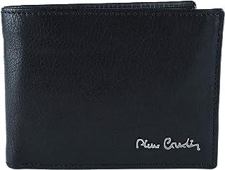 Pierre Cardin, cartera negra para hombre, cuero auténtico, tarjetero y monedero, caja de regalo Nero Con Protezione RFID C...