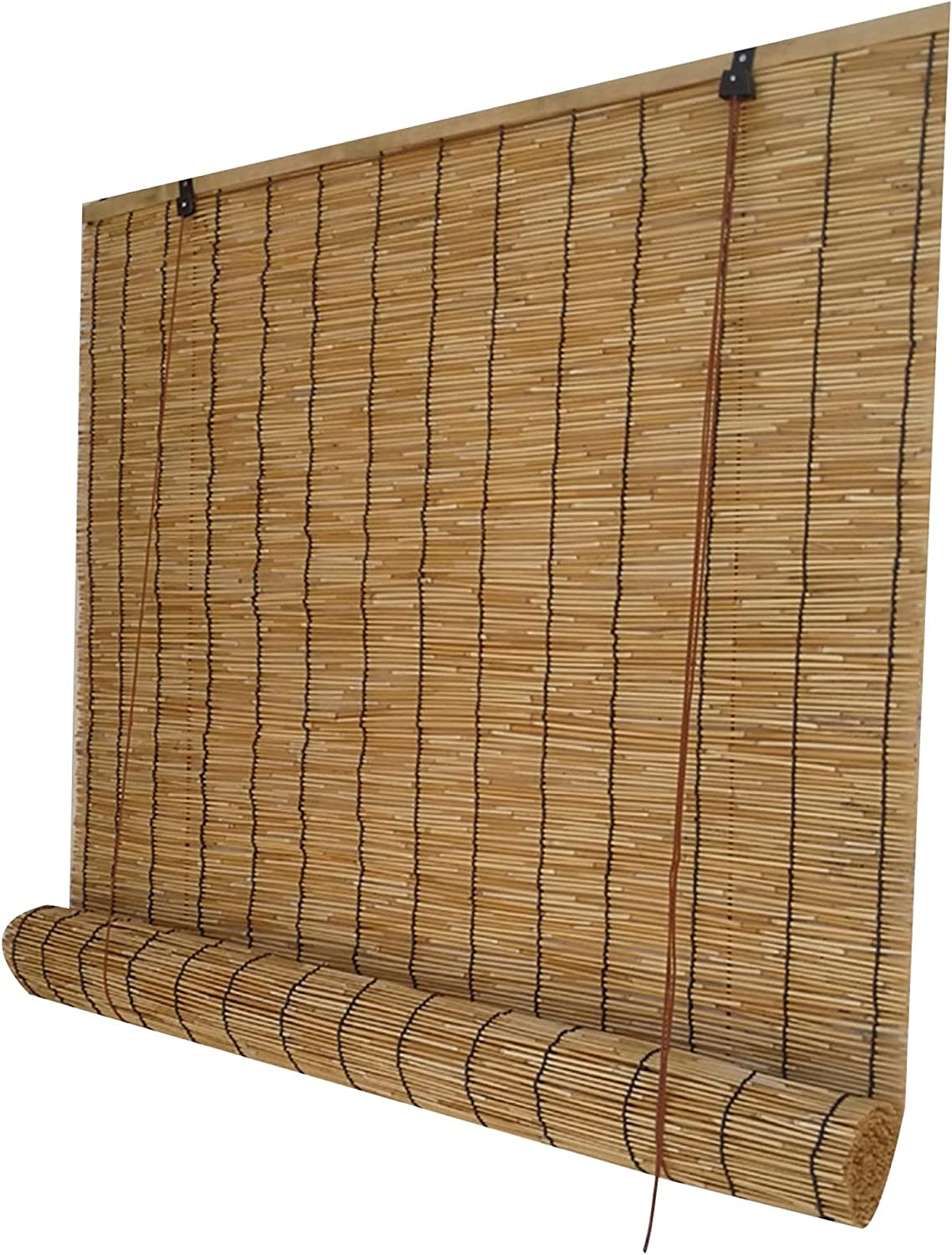 Natural Reed Curtain Household Fixed price for sale Fort Worth Mall Bamboo Roller Shutter Retro Dec