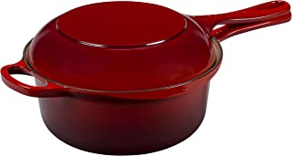 Le Creuset Cherry Two-in-One Pan L2544-2267, 2½ qt.