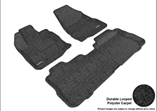 3D MAXpider L1CH01402209 Custom Fit Classic Series Floor Mats Black Complete Set for Chevrolet Equinox Models