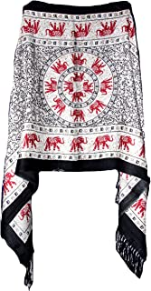 Highwaypay - Elephant Design Shawl Pashmina Scarf Wrap Stole Throw Long Large Scarf Sarong Shawl Yoga Boho Indian Gypsy Hippie Floral Paisley 2389