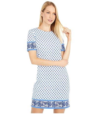 MICHAEL Michael Kors Petite Medallion Border Hems Dress (White) Women