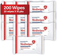 Refreshing Wet Wipes Travel Size Alcohol-Free Wipe Sanitizes/Cleans/Deodorizes Bulk Wipes (200 Wipes, 20 x 10pks)