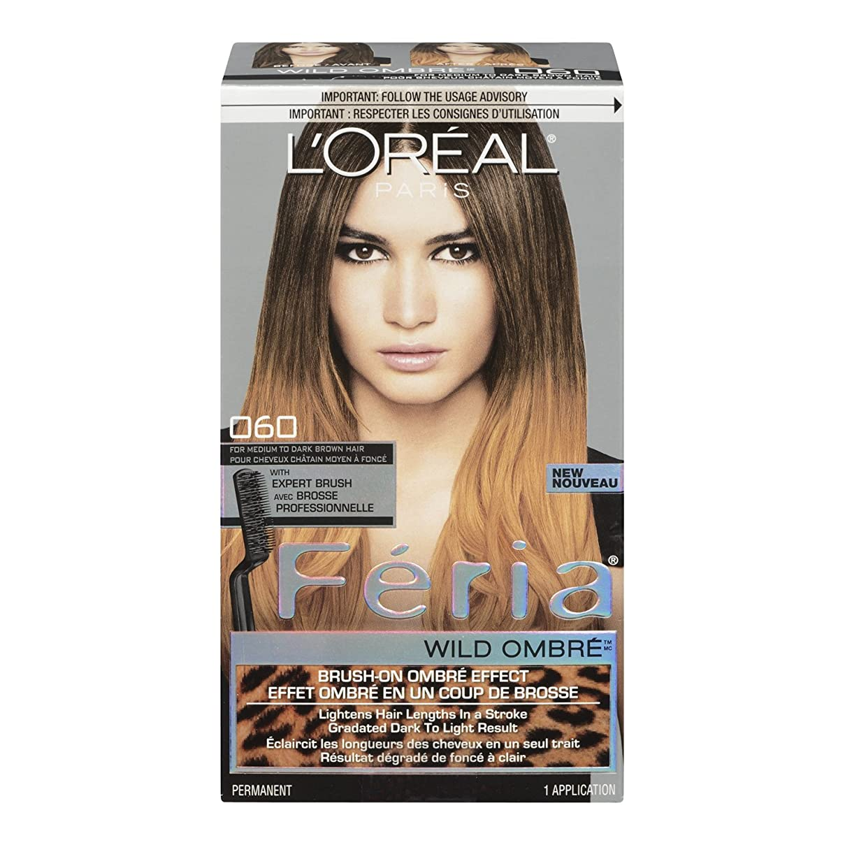 コントロール切断する石油L'Oreal Feria Wild Ombre Hair Color, O60 Medium to Dark Brown by L'Oreal Paris Hair Color [並行輸入品]