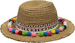 Betsey Johnson - Shake Your Pom Pom Panama Hat