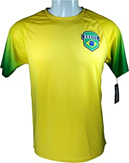 Icon Sport Group Brazil Soccer World Cup Adult Soccer Jersey -P005