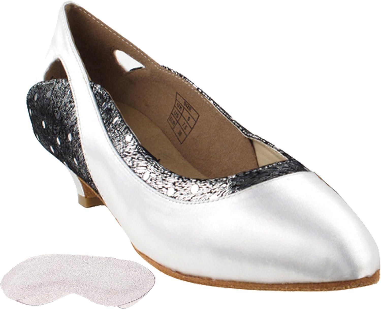Very Fine Women's Salsa Ballroom Dance Shoes Satin EWGCD5505 Bundle - Back-of-Heel Cushions 1.1