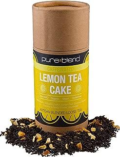 Pureblend Black Tea - Lemon Tea Cake Loose Leaf Tea - Hand Blended, Organic Tea with Fair Trade Ingredients - Ceylon Tea & Assam Tea with Organic Lemon, Coconut & Shortbread - 2 Ounces