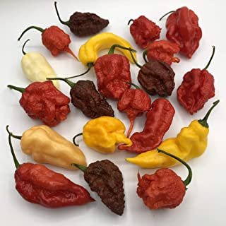 Mixed Box of Fresh Super-Hot Peppers - from Bohica Pepper Hut: Reapers, Ghost, Scorpion, ETC.