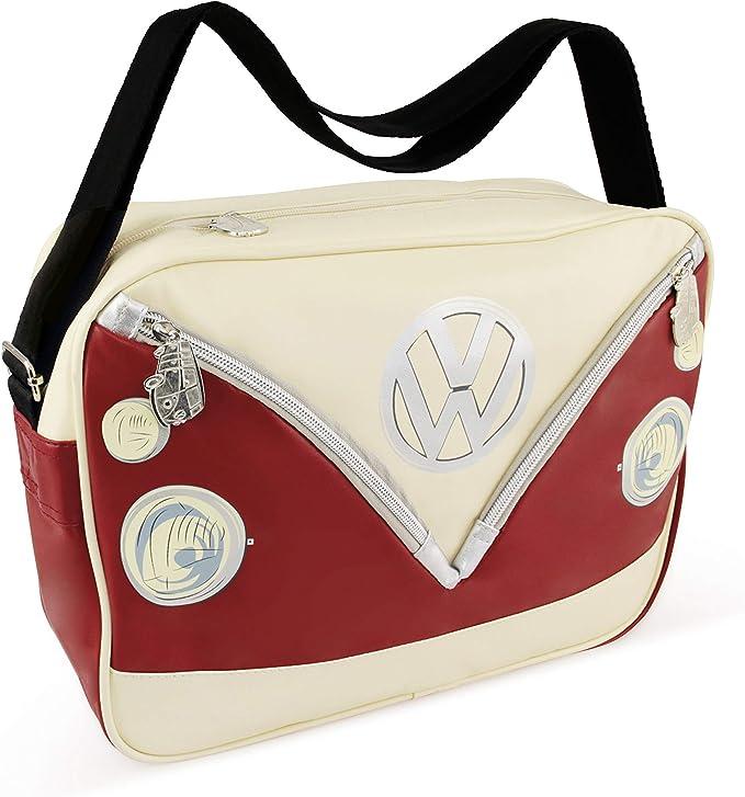 BRISA VW Collection VW T1 Bus 3D Neoprene Hip Bag//Belly bag//Fanny pack//Bum bag//Waist pack red//black