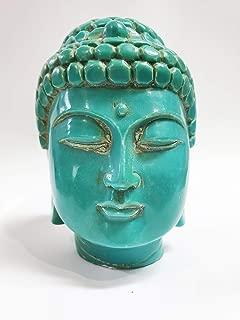 Home n Heart Buddha Head Statue (Turquoise)