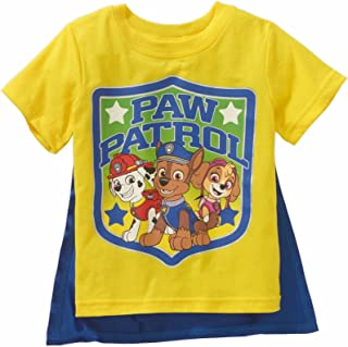 Dazzling Blue Paw Patrol Toddler Boys Caped Graphic Tee Shirt