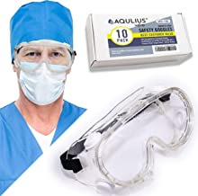 10 Pack of Lab Safety Goggles (10 Pack Protective Goggles) Indirect Ventilation with Crystal Clear Anti-Fog Design – Impac...