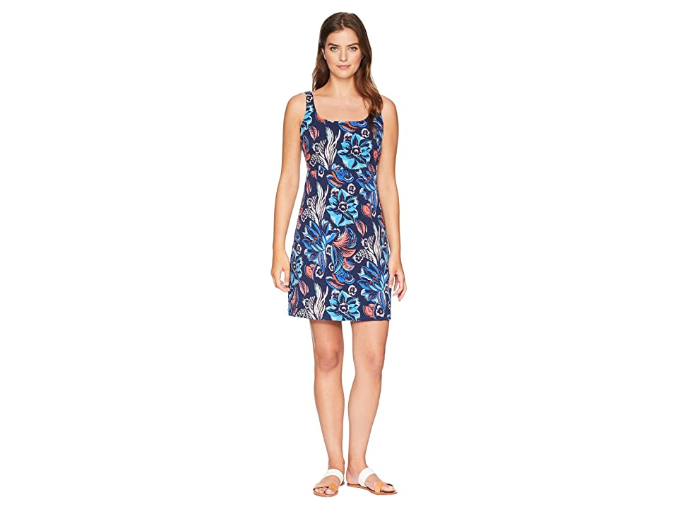 Tommy Bahama Bohemian Blossoms Sleeveless Dress (Ocean Deep) Women's Dress, Blue