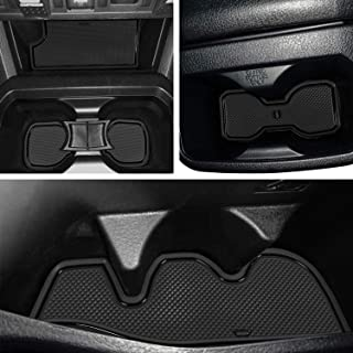 LAIKOU 19 PCs Custom Fit Cup, Door Center Console Liner Accessories for Toyota Tacoma 2019 2018 2017 2016 Whole Set Double Cab (Solid Black)