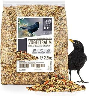 Rêve d'Oiseau - Nourriture pour Merle - Special avec Baies et Fruits [2,5kg] I Graines pour Oiseaux Sauvages Exterieur de ...