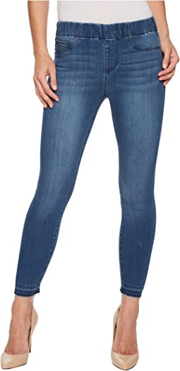 Chloe Release Hem Pull-On Crop in Silky Soft Denim in Harlow