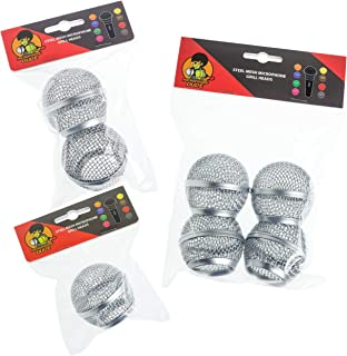 Replacement Microphone Mesh Grill Heads for Shure SM58,AKG, Sennheiser etc- Multiple Quantities … (x2 Grills)