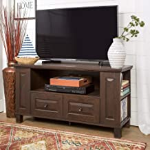 WE Furniture Traditional Wood Stand with Storage Drawers for TV's up to 48