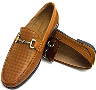 Easy Strider Men's Slip On Loafer Shoes – Premium Design Material – Leather Lined Comfort – Elegant Silver Buckle - Perfect Business Dress Shoe Or Casual for Daily Wear in Regular & Big & Tall Sizes