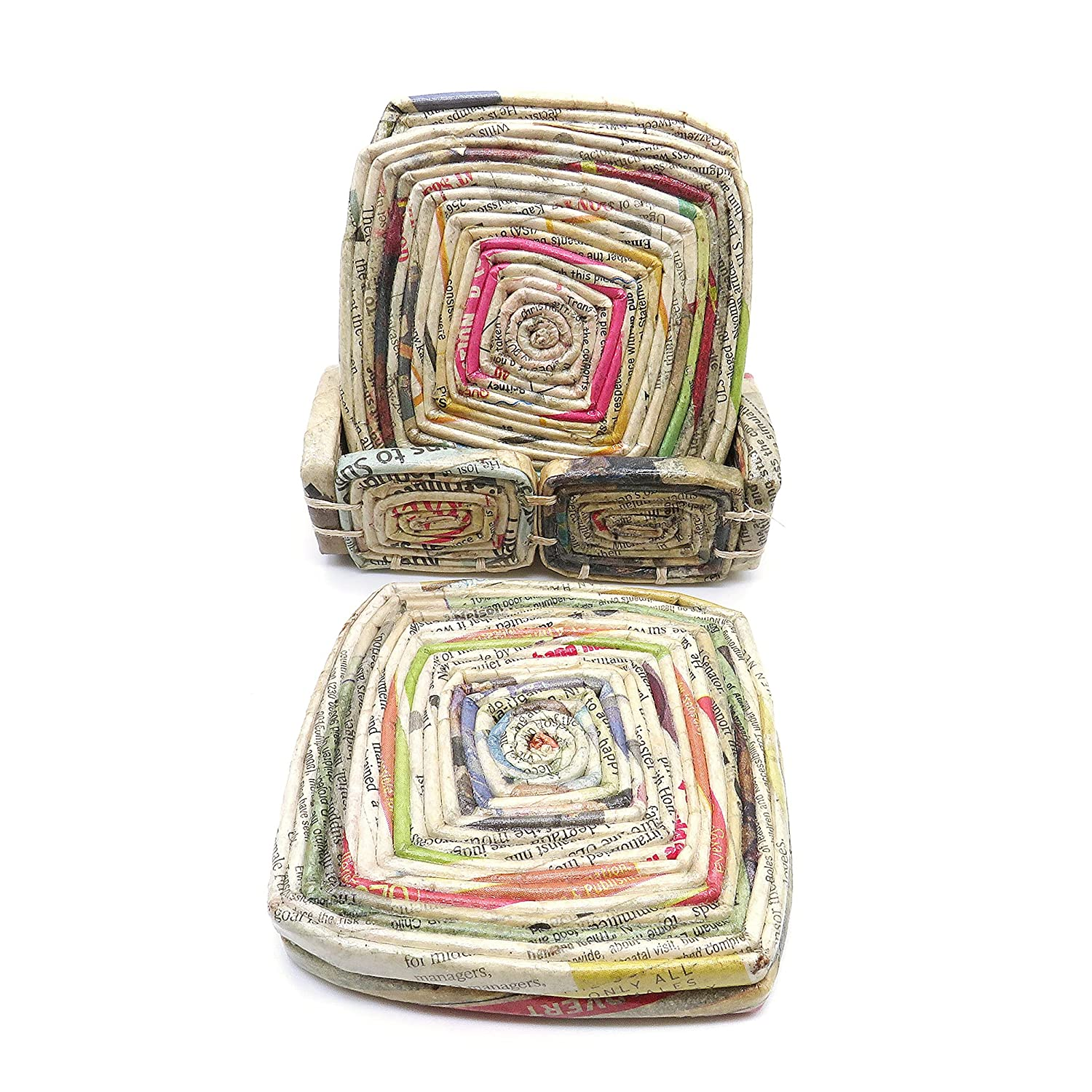 Rolled Paper Handmade Free Shipping New Coasters by - Outreach Coas quality assurance Uganda Artisan