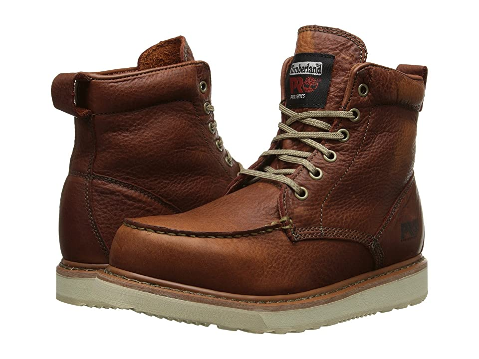 Timberland PRO Timberland PRO(r) 6 Wedge (Rust Full-Grain Leather) Men's Work Lace-up Boots