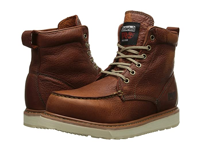 Timberland PRO   6 Wedge (Rust Full-Grain Leather) Mens Work Lace-up Boots