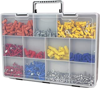 Bins & Things Plastic Organizer Box with Dividers (14.5 x 2.9 x 11 Inches) 30 Adjustable Compartments with Removable Tray for Craft Storage, Smart Parts and Hardware Organizer, Fishing Tackle Box