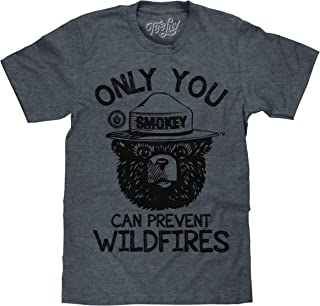 Tee Luv Smokey Bear T-Shirt - Only You Can Prevent Wildfires Graphic Tee