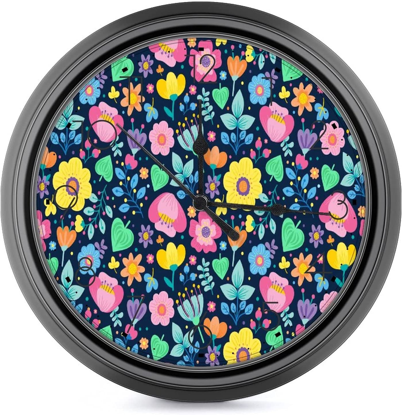 Many Flowers are Dense 10 Directly managed store Bargain inch Clock-Silent and Large tick- Wall