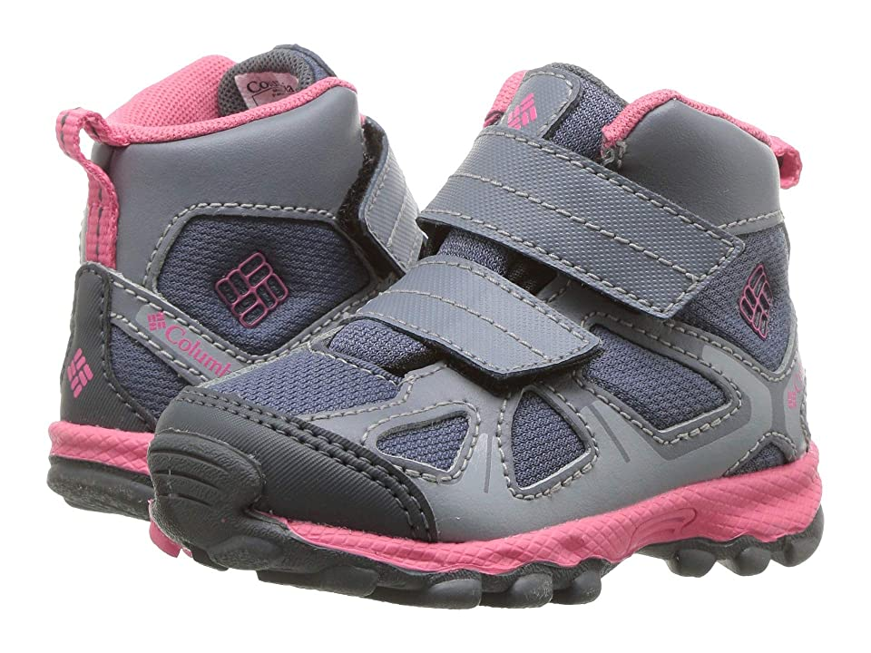 Columbia Kids PeakFreaktm Xcrsn Mid Waterproof (Toddler) (Mountain/Camellia Rose) Girls Shoes