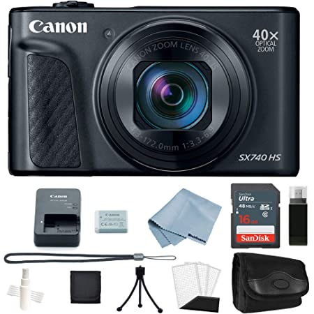 Canon Powershot SX740 HS 4K Video Digital Camera + Basic Accessory Kit - Including to Get Started