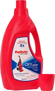 Rug Doctor Oxy Steam Carpet Cleaner Solution (64 oz.); Powerful, Effective, Super Concentrated Solution Formulated with Oxygen-Activated Cleaning Boosters; Works in All Leading Deep Cleaning Machines