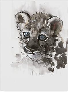Blue Eyes Arabian Leopard Cub by Mark Adlington, 14x19-Inch