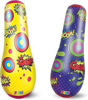 """JOYIN 47"""" Inflatable Socker Bopper Power Bag Standing Inflatable Punching Bag for Kids"""
