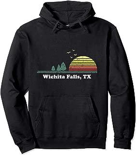 Vintage Wichita Falls, Texas Home Souvenir Print Pullover Hoodie