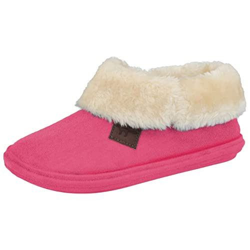 86675c6503c4 Ladies Chiltern Jo & Joe Faux Suede Sheepskin Fur Collar Fleece Lined  Bootee Slippers Size 3
