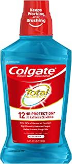 Colgate Total Pro-Shield Alcohol Free Mouthwash, Peppermint - 500mL, 16.9 fluid ounce