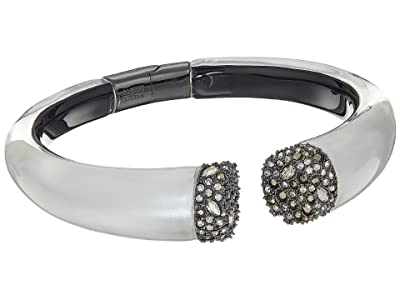 Alexis Bittar Encrusted Pave Brake Hinge Bracelet (Polished Silver) Bracelet